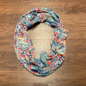 Gorgeous lightweight printed infinity scarf